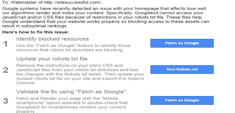 Googlebot cannot access CSS and JS files