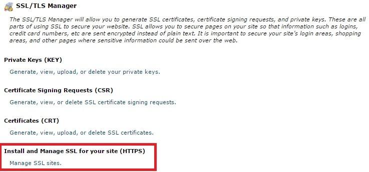 التحويل من http الى ssl