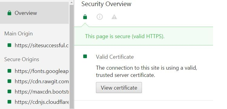 make pages secure