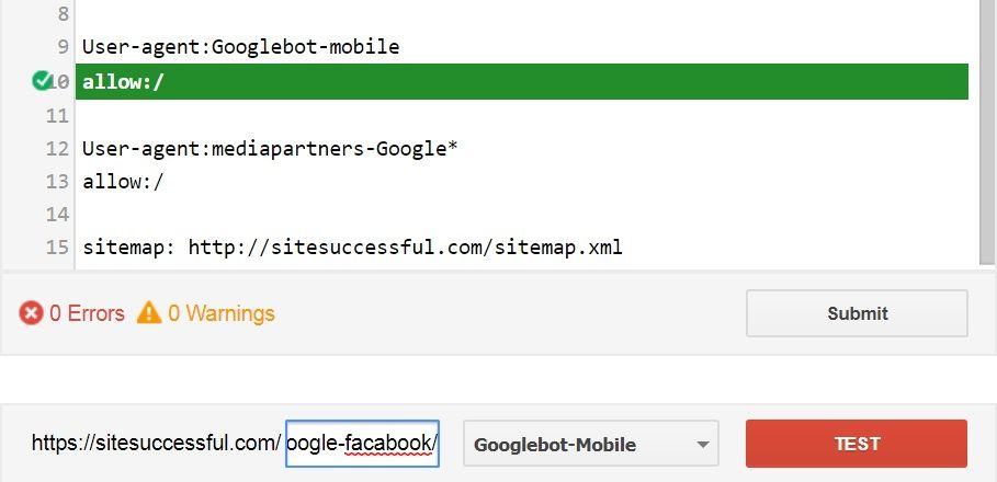 تحقق من ملف robots.txt
